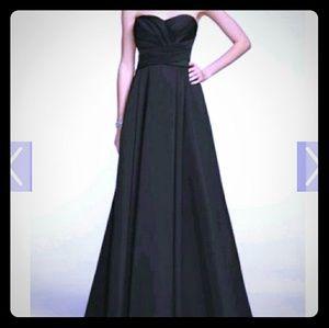 Davids bridal black gown style F15554